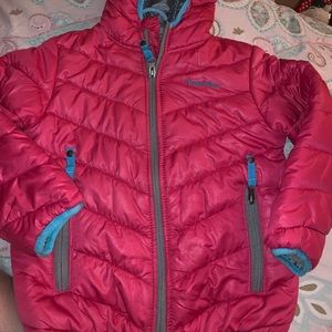 Girls light puffy rugged bear jacket
